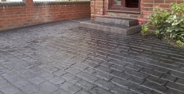 Printed Concrete Driveway >> Pattern Imprinted Concrete Wolverhampton Driveways Block Paving